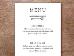 5 course menu template best 25 menu card template ideas on free menu printable
