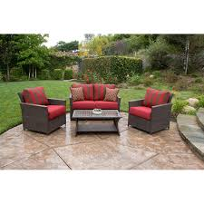 Deep Seating Wicker Patio Furniture - better homes and gardens rushreed deep seating 4 piece patio