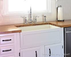 Fireclay Farmhouse Sinks Durability And Quality Beneath My Heart - Farmer kitchen sink