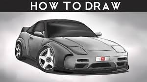 nissan silvia drawing how to draw a nissan 240sx step by step drawingpat youtube