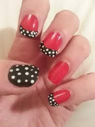 oooooh pretty little black bow nail design