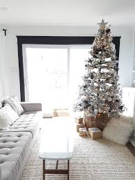 how to decorate a flocked tree the sweetest digs