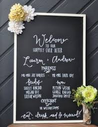 wedding program board chalkboard wedding program 23x35 rustic by chalkfulloflove