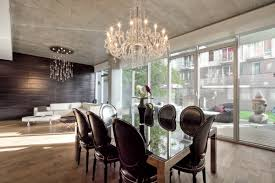 beauteous designs with modern chandelier for dining room