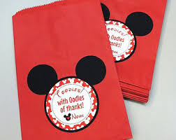 mickey mouse favor bags mickey candy bags etsy