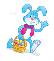 rabbit easter basket easter bunny carrying easter basket by rodsavely graphicriver