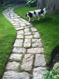 Cobblestone Ideas by Jumbo Cobbles Laid On Their Side For Walkway Garden Paths