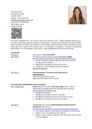 Economics Resume Cv Mathilde Petit Resume