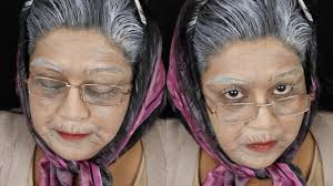rigid collodion spirit halloween old age old lady halloween makeup tutorial nishi v youtube