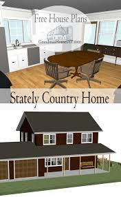 Free Home Plans by Free House Plan Stately Country Home Grandmas House Diy