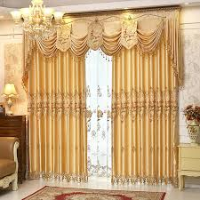 Embroidered Curtain Panels Online Shop 1pair Readymade Luxury Embroidered Curtains Panels