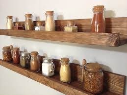 rustic wooden spice rack ledge shelf ledge shelves wooden rack