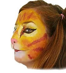 halloween prosthetic mask cat face latex kitty nose lion mask prosthetic halloween costume