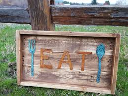 rustic signs rustic metal eat sign farmhouse decor signs wood