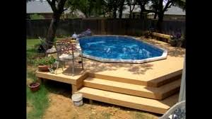 Above Ground Pool Ideas Backyard Above Ground Pool Deck Ideas Youtube