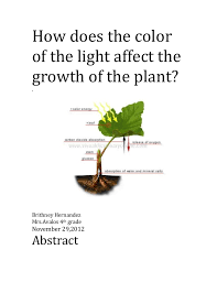 light and plant growth how does the color of the light affect the growth of a plant