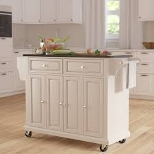 kitchen islands with granite darby home co pottstown kitchen island with granite top reviews