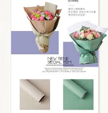 waterproof wrapping paper korean flower waterproof wrapping paper packaging gift wrapping