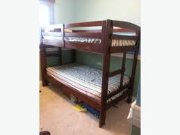 Twin Bunk Bed Pine Wood Merlot Color East Regina Regina - The brick bunk beds