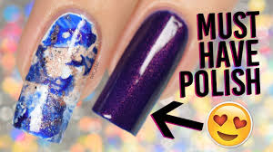 the must have polish of fall 2017 with easy smoosh marble nail