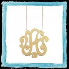 Single Initial Monogram Necklace Jewelry Jewelry Jennifer Zeuner Designs
