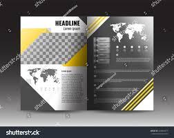 corporate brochure template design stock vector stock vector