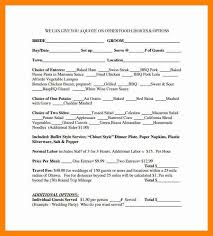 quotation form catering quotation sample catering services