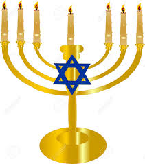 menorah 7 candles the 7 branch menorah symbol of faith royalty free cliparts