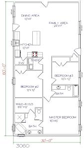 3 bedroom 2 bath floor plans floor plans barndominiums