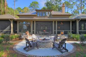 Fire Columns For Patio Metal Fire Columns With Stone Pavers Patio Traditional And Round