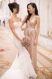 gold dress wedding gold bridesmaids dresses a unique bridal look