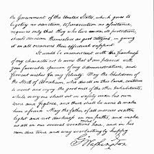 george washington u0027s letter to newport my jewish learning