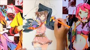 anime coloring tutorial using color pencils konosuba youtube