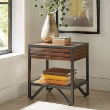 chico stacked wood nightstand by inspire q modern free shipping