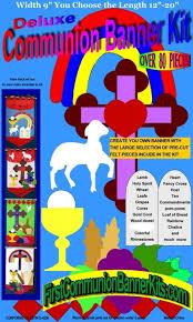 communion kits deluxe holy communion banner kit felt shapes