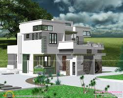 modern flat roof house plans beautiful night view of a flat roof villa kerala home design and