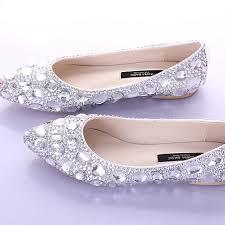 aliexpress com buy flat heels pointed toe ab crystal wedding