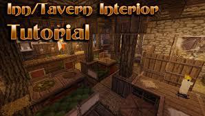Minecraft Medieval Furniture Ideas Minecraft Interior Design Tavern Inn Tutorial Youtube