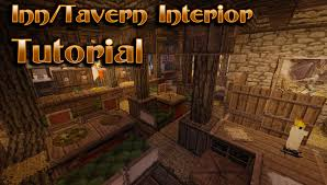 minecraft interior design minecraft interior design tavern inn tutorial youtube