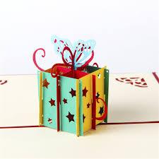 5pcs happy birthday gift box butterfly handmade creative 3d pop up