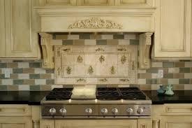 faux brick backsplash in kitchen
