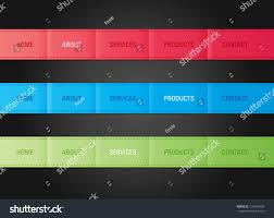 menu bar templates vector web navigation menu bar templates stock vector 125433554