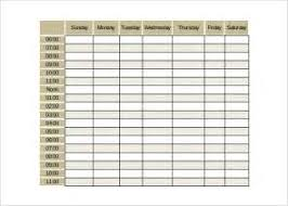 free weekly hourly calendar template job application letter for