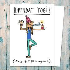 birthday yogi birthday card for yoga teachers by indieberries