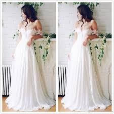 2017 spring summer boho wedding dresses off shoulder simple