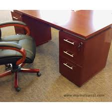 Dual Desk Home Office Office Cherry Wood Office Desk Curved Desk Wood Office Furniture