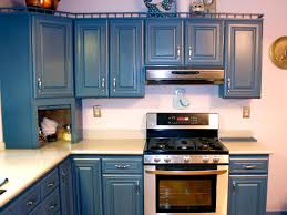 White And Blue Kitchen Cabinets by Spray Painting Kitchen Cabinets Pictures U0026 Ideas From Hgtv Hgtv