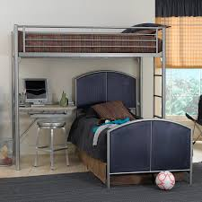Universal Bunk Beds Shop Hillsdale Furniture Universal Silver Study Loft Bunk Bed