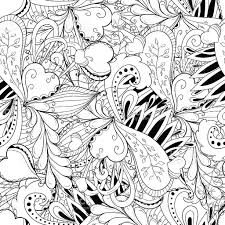 seamless pattern background with abstract ornaments draw