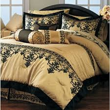 resemblance of black and gold bedding sets for adding luxurious